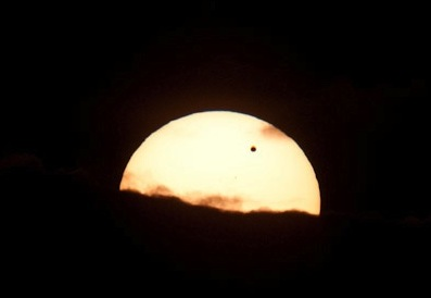 Austin Taylor's picture of Venus transiting the sun during the early hours of Wednesday morning.