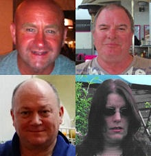 Duncan Munro, 46, from Bishop Auckland; Sarah Darnley, 45, from Elgin; Gary McCrossan, 59, from Inverness; and George Allison, 57, from Winchester died in the accident.