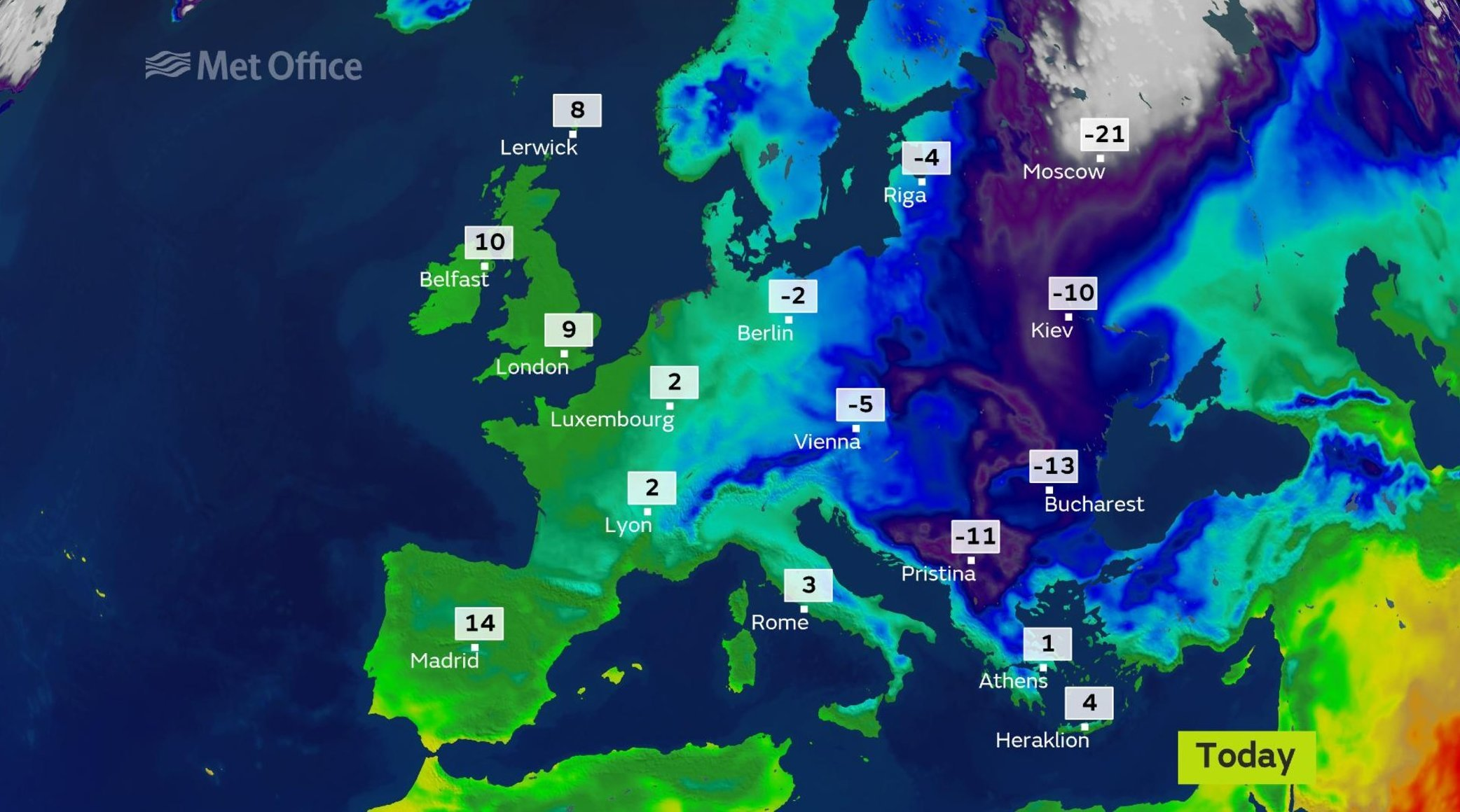 Met Office Map Isles are warmer than Crete – at least for a day! | Shetland News Met Office Map
