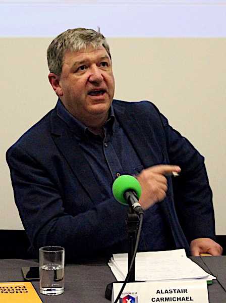 Lib Dem candidate Alistair Carmichael accusing the SNP of double standards.
