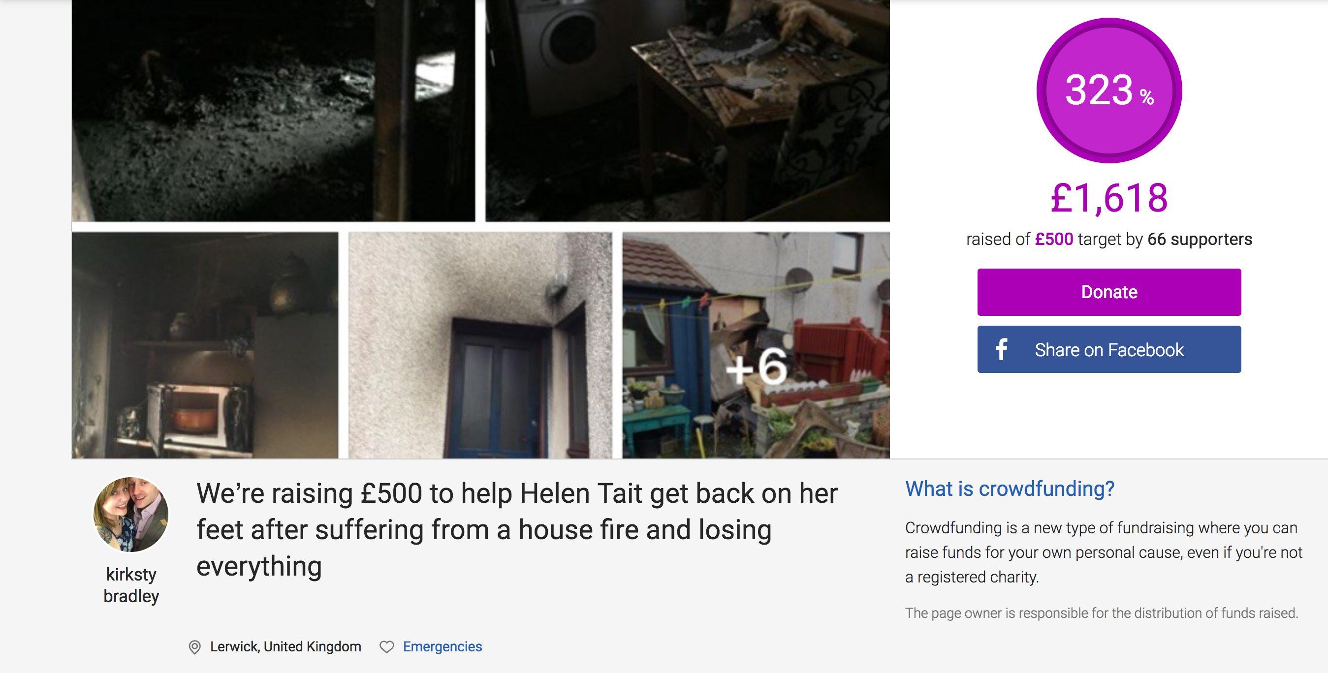 Community rallies for Helen after house fire | Shetland News