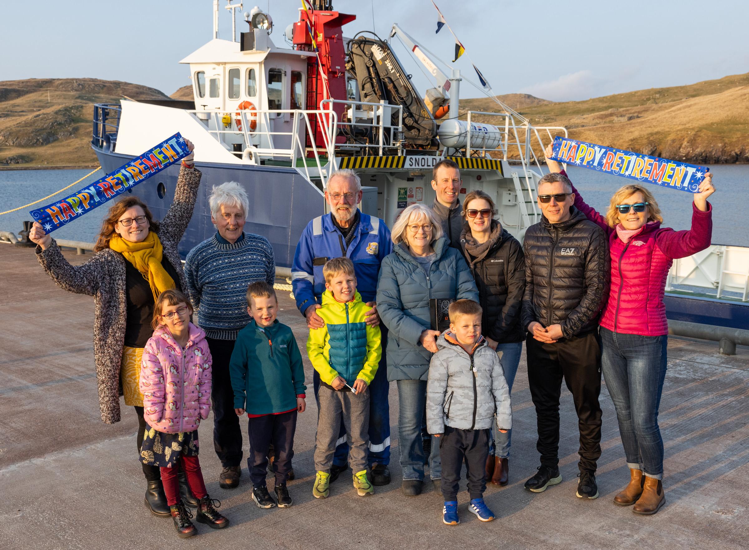 Retiring Jack bids farewell to Papa Stour ferry
