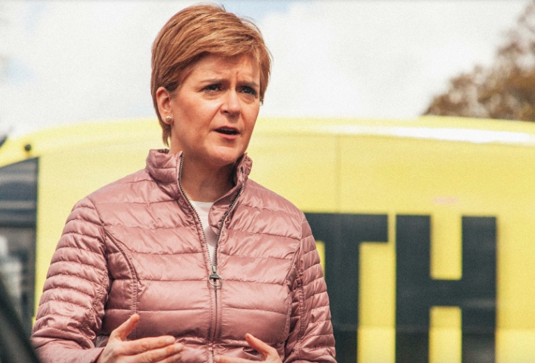 First minister shows support for fixed links as election campaign draws to a close