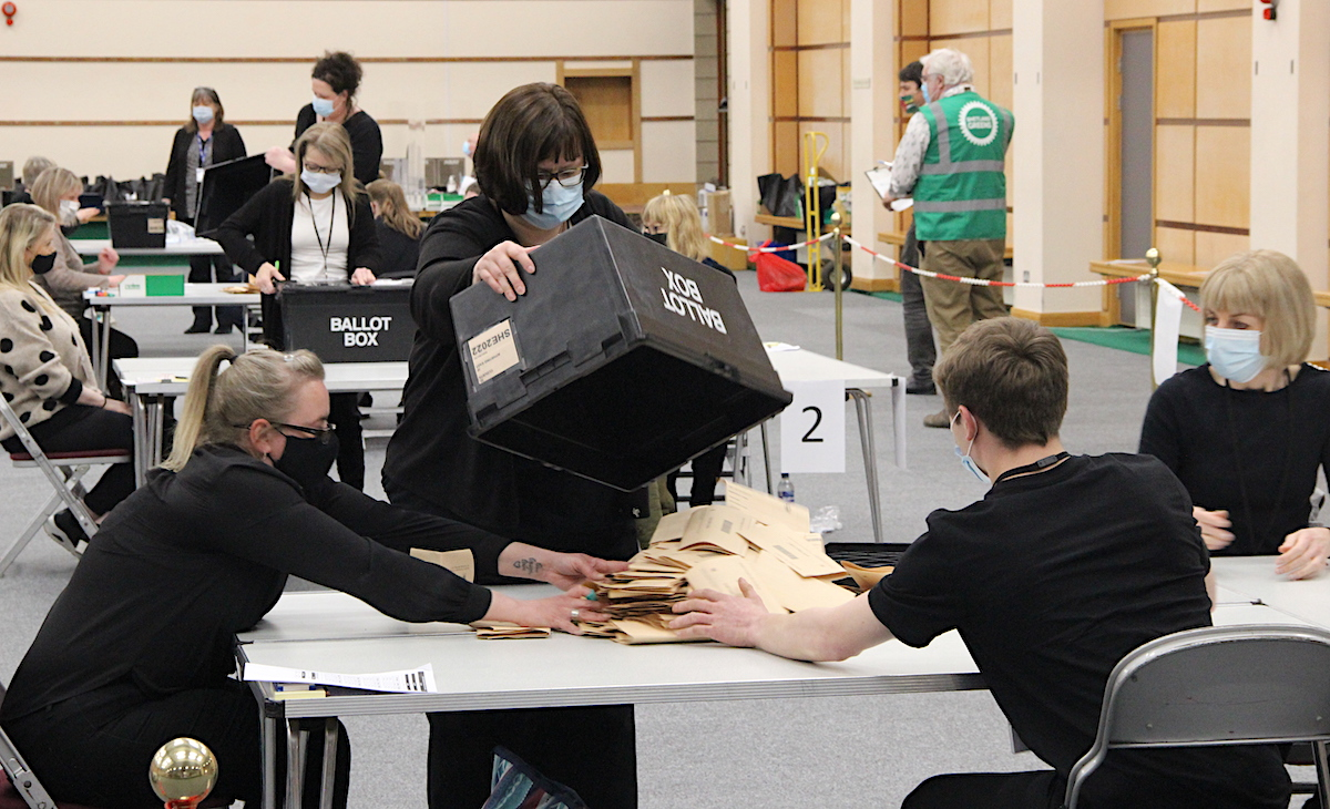 Voting turnout confirmed as 66 per cent as election count continues