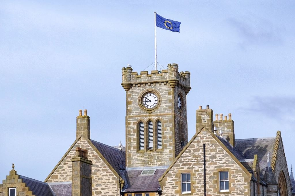 Flag of Europe to fly on top of Lerwick Town Hall