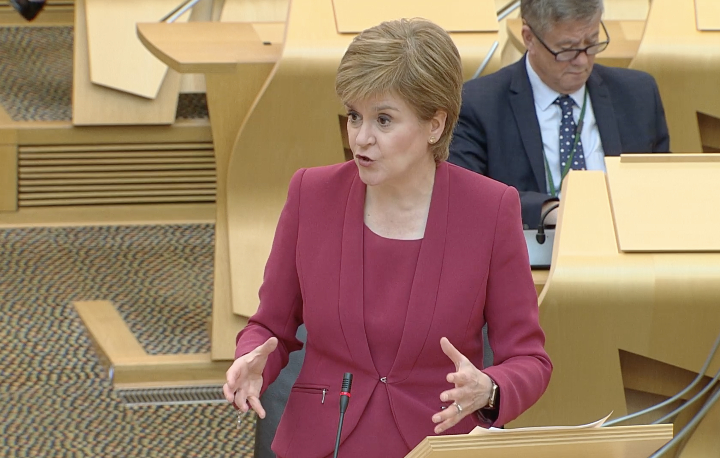 Sturgeon urges continued 'caution' amid improved Covid-19 picture